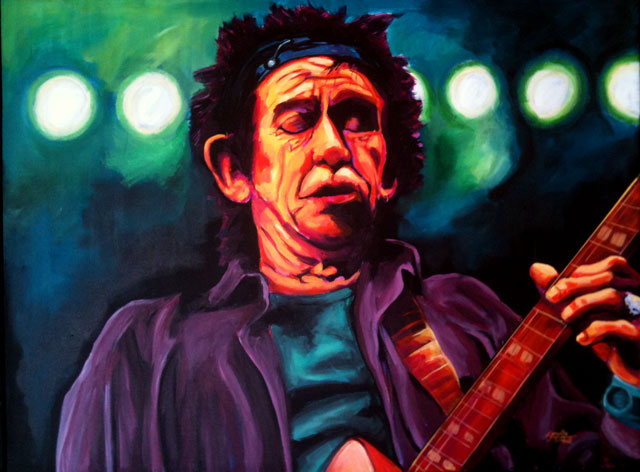 "Keith Richards 30""x40"""