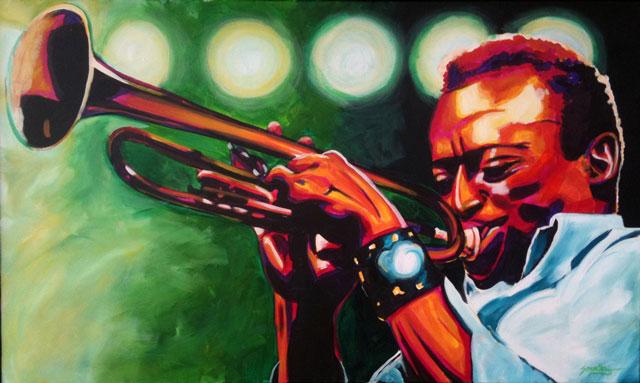 "SOLD: Miles Davis 30""x40"""