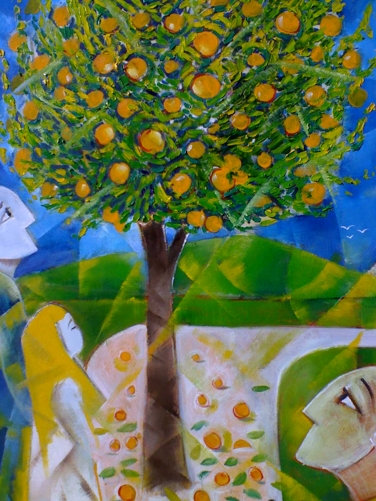 'The Orange Tree' 2006 Oil on Canvas 100x75cm