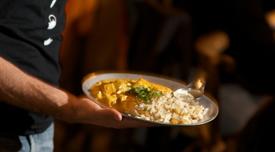 Another Samovar Delight: Tofu Curry with Raita and Spiced Basmati Rice