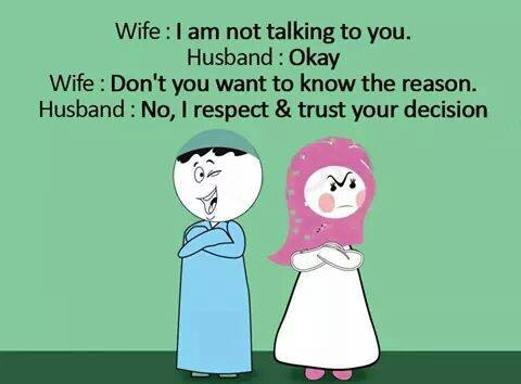 hadees on husband and wife relationship jokes