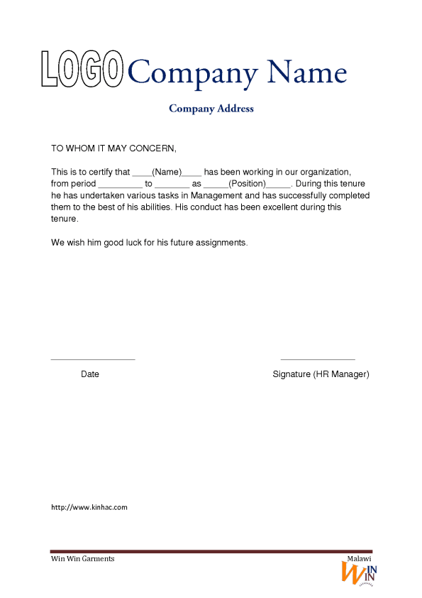 Experience letter template word 28 images top 7 experience experience letter template word by work experience letter template free sle templates yadclub Image collections