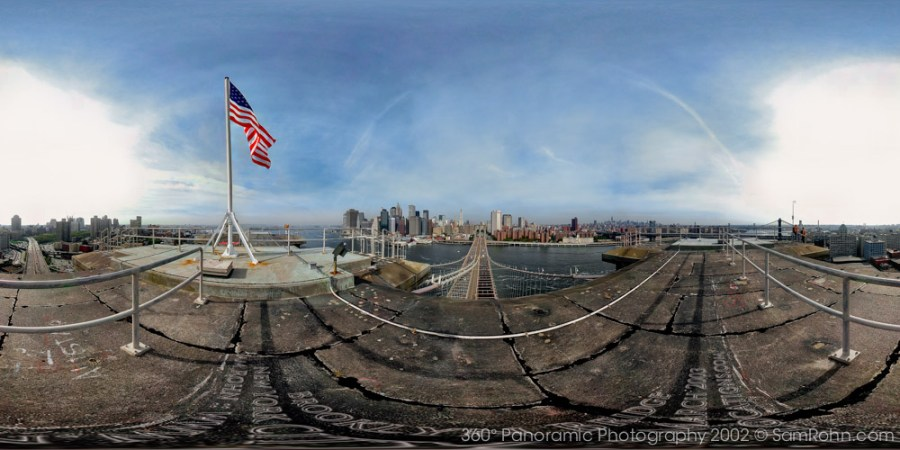 Top of the Brooklyn Bridge :: New York City  :: 360° Panorama