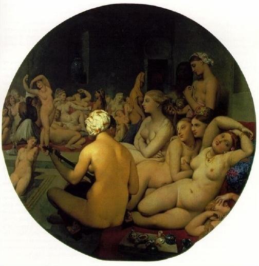 Jean - Auguste Dominique Ingres, Le Bain Turc (Türk Hamamı), 1862