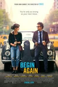 Begin Again (Yeniden Başlamak) film afişi.