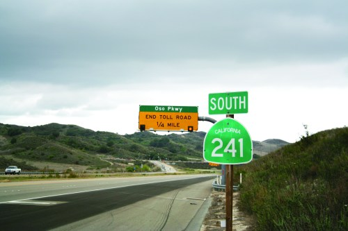 The current terminus of the 241 Toll Road is Oso Parkway. The Transportation Corridor Agencies announced Tuesday that it was withdrawing an environmental review of its proposal to connect with Interstate 5 south of San Clemente. File photo