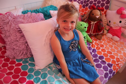 Five-year-old Raelyn Beckler battled acute lymphoblastic leukemia for 2.5 years. In April, Raelyn completed treatments and to give the young girly girl a fresh start, volunteers fashioned a bedroom straight from her dreams, complete with pink walls and princess dresses. Photo: Andrea Papagianis