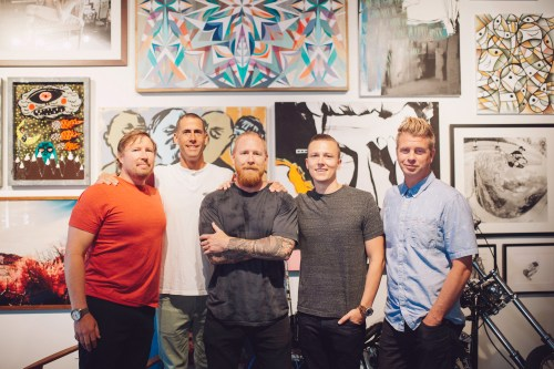 Stance Founders from left to right: Jeff Kearl, CEO; John Wilson, President; Ryan Kingman, Chief Marketing Officer; Taylor Shupe, Chief Product Officer; Aaron Hennings, Chief Creative Officer PHOTO: Courtesy of Stance