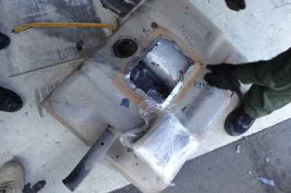 U.S. Border Patrol agents said they found narcotics stashed inside the gas tank of a truck driven by a 27-year-old Mexican national on Feb. 14, about five miles south of San Clemente. Photo: Courtesy of U.S. Border Patrol