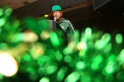 Exchange Club of San Clemente members emceed the St. Patrick's Dinner and Dance on Saturday, March 11.