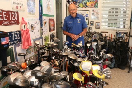 Don Glasgow has been collecting golf clubs and donating them to Marines and members of the military for eight years. He is also an philanthropist in many other ways. Photo: Eric Heinz