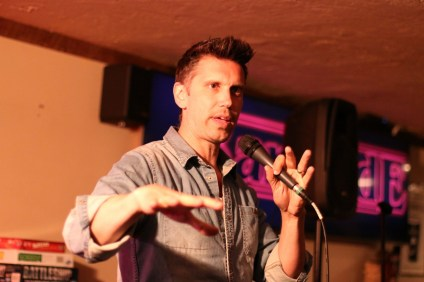 Dave Nystrom, a comedian from Canada, performs stand-up on May 17 at Molly Bloom's in San Clemente. Photo: Eric Heinz