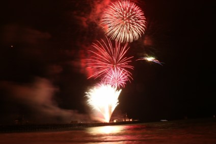Fourth1: Fireworks over the San Clemente Pier are the centerpiece of the Fourth of July celebrations. San Clemente's fireworks start at 9 p.m. Photo: File