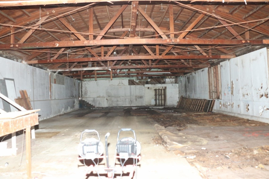 The old bowling alley adjacent to the Miramar Theater will need major renovation work, should the owners' plans be approved by officials. Photo: Eric Heinz