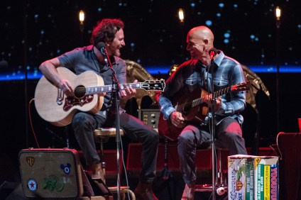 Eddie Vedder and Kelly Slater. Photo: Stephanie Cabral