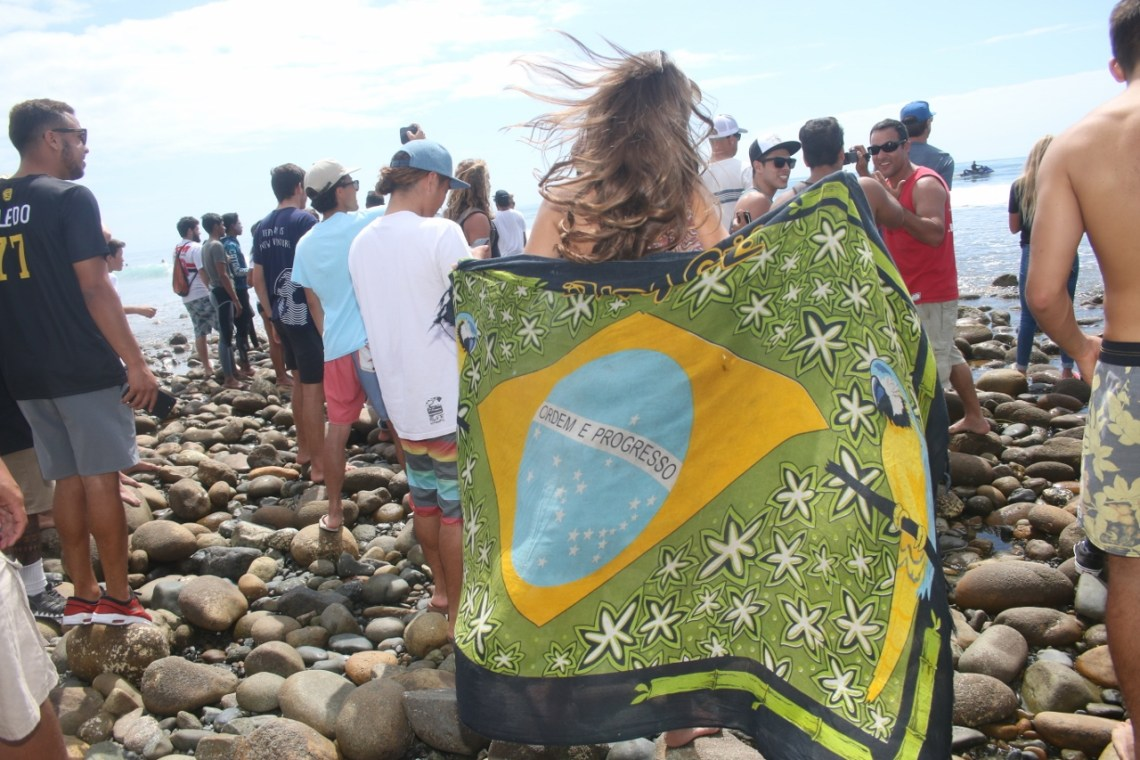 It was an all-Brazil affair at the Hurley Pro and Swatch Pro, with Brazilians Filipe Toledo and Silvana Lima winning their respective competitions. Photo: Eric Heinz