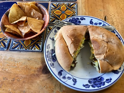 The beef torta at El Coyotito Mexican & Seafood Restaurant. Photo: Duane Paul Murphy