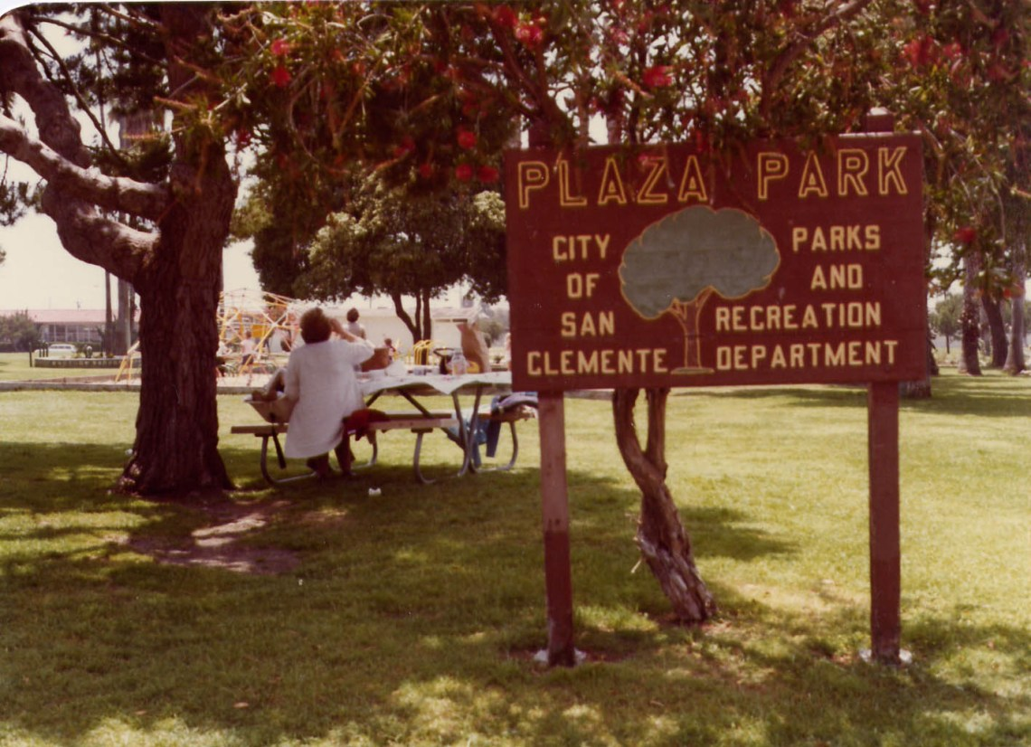 Plaza Park in San Clemente  Long before the smiling face of Max Berg was seen coming down a slide during a dedication ceremony, Plaza Park left people with enjoyment for decades, seen here in circa 1970. The park is now named Max Berg Plaza Park after the late city clerk who served for 35 years.   Every week, the San Clemente Times will publish a historical photo. Online, SC Times will create a gallery of the month's photos. To submit your historical photos, please provide information about the photo along with your name for credit to eheinz@picketfencemedia.com.    Photo: Courtesy of the city of San Clemente