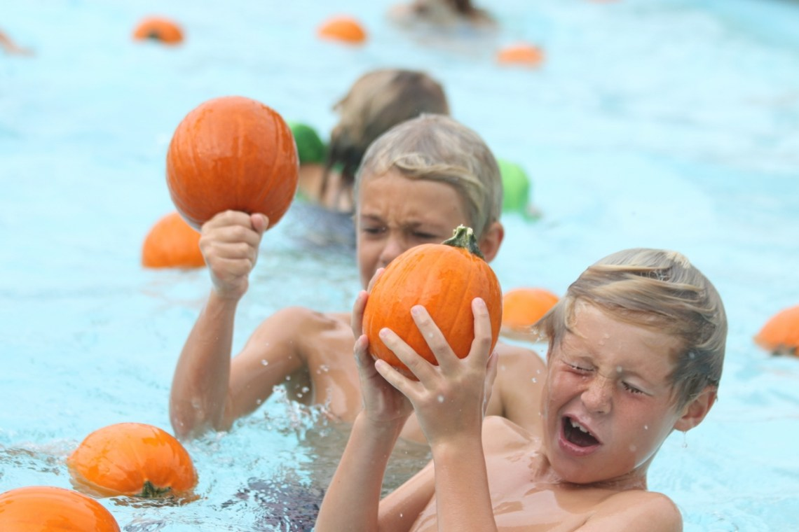 Children enjoyed an afternoon of playing with pumpkins on Monday, Oct. 30, at the Ole Hanson Beach Club's Pumpkin Splash. Photo: Eric Heinz