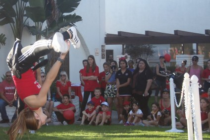 San Clemente High School Dance Team performed at a pep rally at the end of the parade for Red Ribbon Week on Oct. 23.