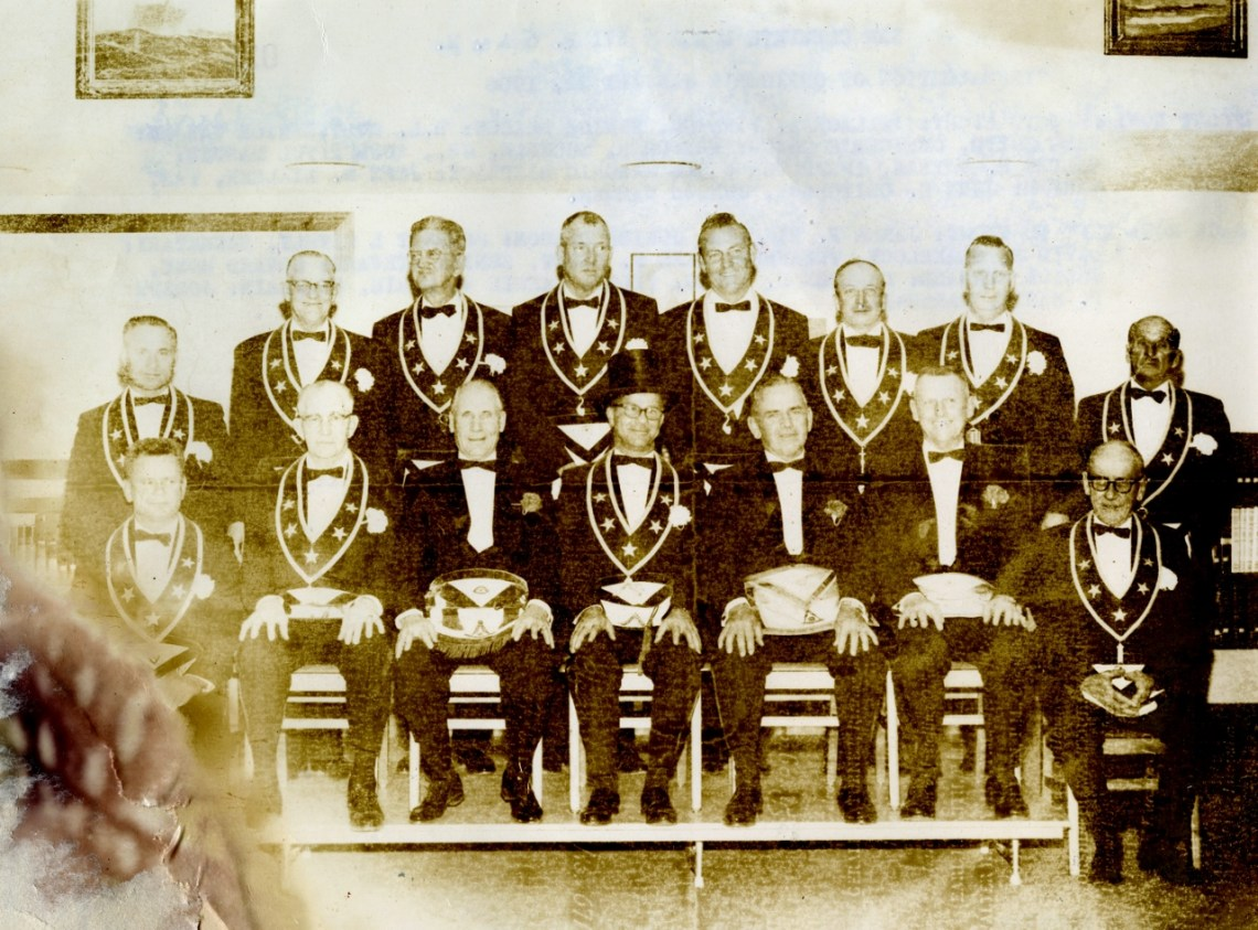 The Free and Accepted Masons from San Clemente Lodge No. 671 pose for a photo. This is one of the many items included in the time capsule placed at Dana Point Harbor in 1966. The capsule was opened during a special ceremony in August 2016. Photo: Courtesy of Orange County Archives