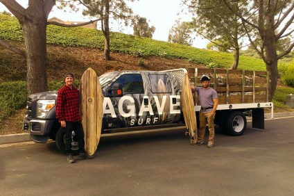 """This is the next step for surfing, to create a local system for growing surfboards to displace the materials and practices that undermine our lifestyle,"" says Agave Surf co-founder Nate Headrick. Photo: Courtesy of Agave Surf"