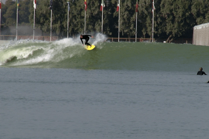 "The Kelly Slater Surf Ranch provides consistent quality waves, but is it ""surfing""? Photo: Screenshot provided by Jake Howard"