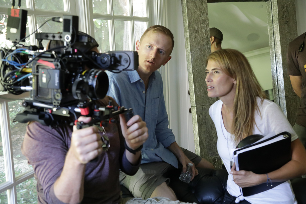 Autumn McAlpin, right, helps direct a scene from her new movie 'Miss Arizona.' McAlpin, a San Clemente resident, said the film will premiere in May. Photo: Courtesy of Rich Marchewka/Side Gig Productions