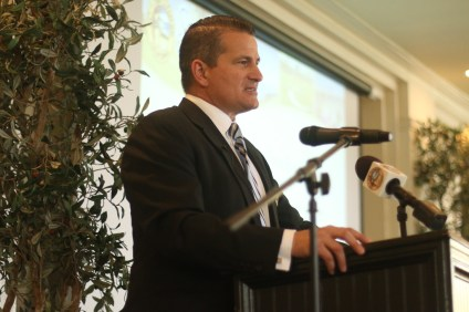 San Clemente Mayor Tim Brown gives the State of the City on April 5 at Bella Collina San Clemente. Photo: Eric Heinz