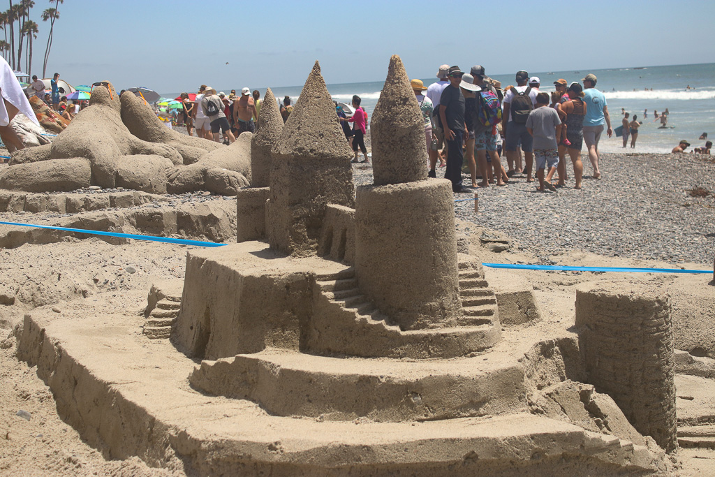 Sand-sculpting contests brought out artists of the granular medium on Sunday, July 22, at the San Clemente Ocean Festival. Photo: Eric Heinz