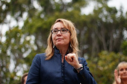 Former Arizona U.S. Congresswoman Gabreille Giffords spoke to an audience at a private function on July 17 in San Clemente. Giffords has been an advocate of stricter gun-control laws ever since she was shot and critically wounded at a political event in 2011. Photo: Eric Heinz