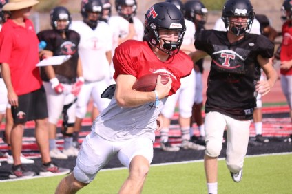 San Clemente quarterback Brendan Costello leads the Tritons into the South Coast League after a gauntlet nonleague schedule. Costello says the team has handled adversity well and isn't satisfied. Photo: Zach Cavanagh