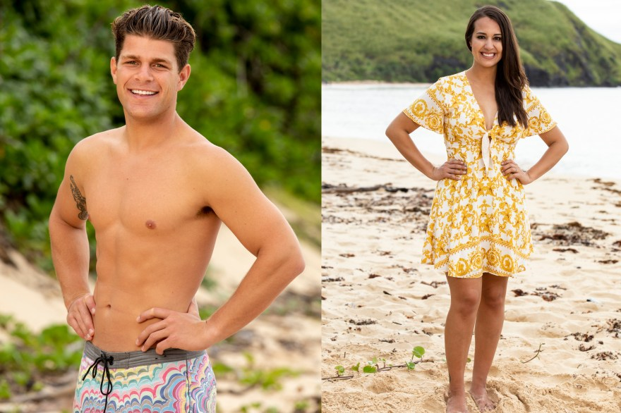 Alec Merlino, left, a San Clemente native, and Angelina Keeley, a resident of San Clemente, are contestants on the CBS network show 'Survivor' for season 37's theme 'David vs. Goliath.' Both Merlino and Keeley are part of the Goliath tribe. The season premiere is Sept. 26. Photos: Courtesy of CBS