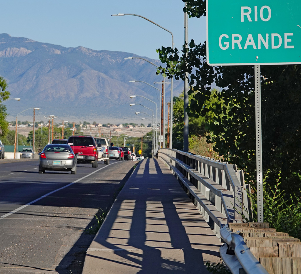 The Rio Grande River, which runs through Los Lunas, N.M., was the eastern boundary of the historic San Clemente land grant of 1716. Photo: Fred Swegles