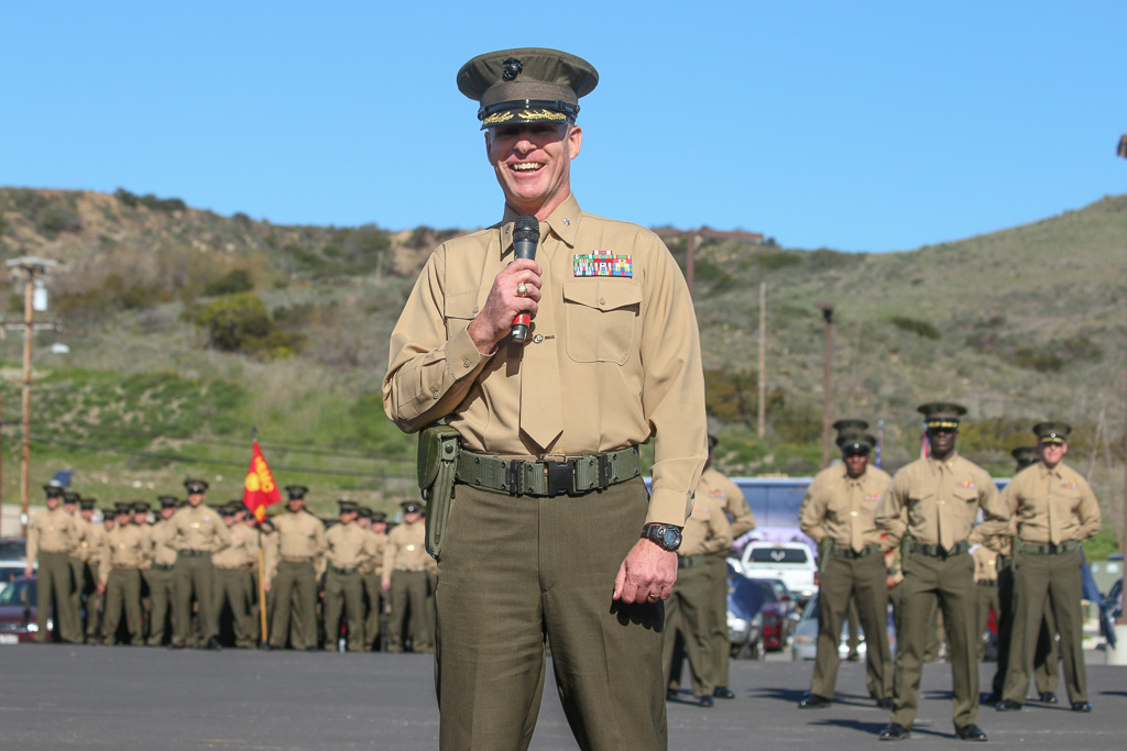 Lt. Col. Patrick Byrne started his career in the U.S. Marines with the 2/4 at Camp Pendleton. Photo: Eric Heinz