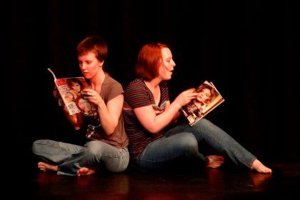 Annelise Eckelaert, Anna Lewein in Sandbox Theatre's Summer Suitcase (2013)
