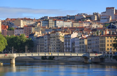 Pont de la Feuillee and Croix Rousse on a summers day.