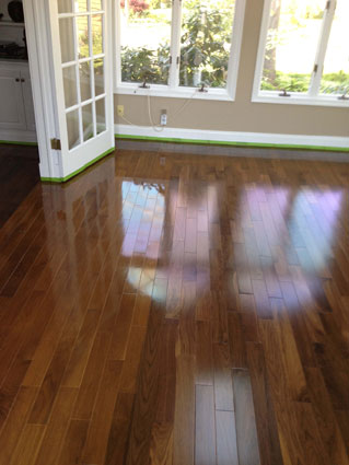 hardwood floors require a certain amount of maintenance to keep them looking shiny and beautiful and to prevent them from rutting due to the presence of