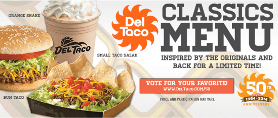 Del Taco Giveaway Celebrating Their 50th Anniversary!