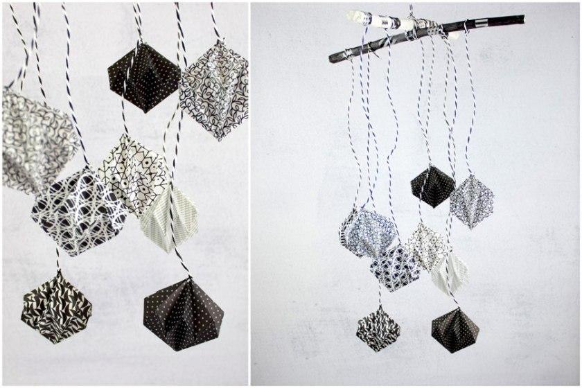 DIY Origami Diamanten Mobile_skaliert