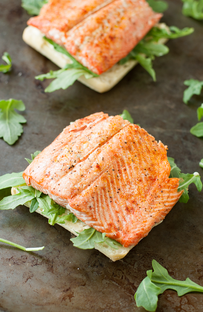 Grilled Salmon Sandwiches