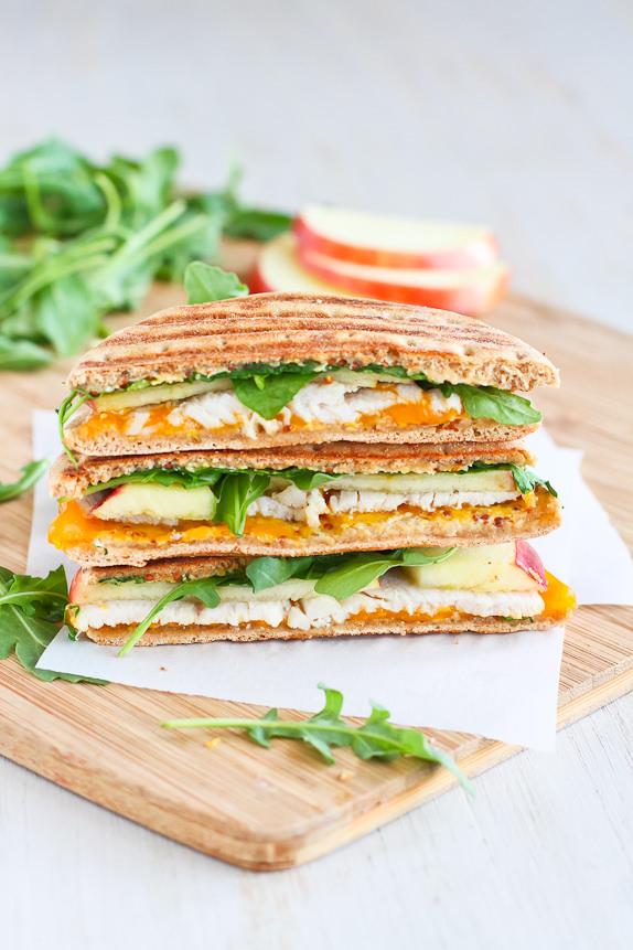 Heart Healthy Sandwich - Turkey, Apple, and Cheddar Panini