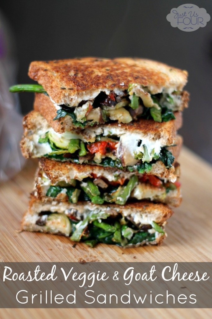 Roasted Vegetable Grilled Cheese - Photo and Recipe by Shannah at my Surburban Kitchen