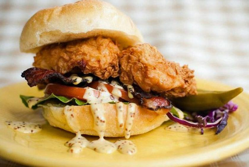 BLT Fried Chicken Sandwich - Recipe and Photo by Brian Sonoskus