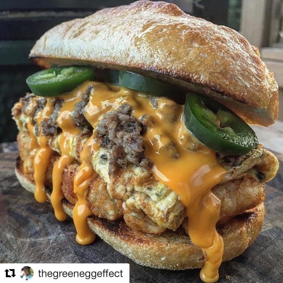 Sandwich Madness: Big Green Egg Effect