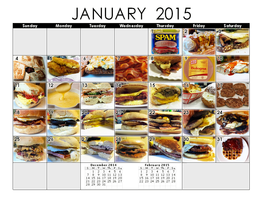 A Month of Breakfast Sandwiches