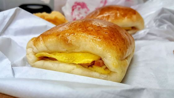 Ham and egg bun from Chiu Quon