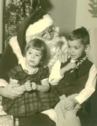 My brother and I, ages 4 and 2. I am the cute one.