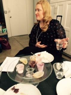 Cake tasting: Key Lime cake, chai tea icing, gluten-free options