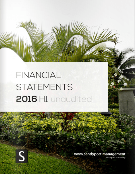 SHAL 2016 H1 Statements